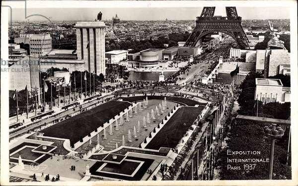 Paris, Weltausstellung 1937, Eiffelturm, Bassins du Trocadero