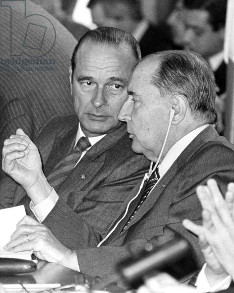 Jacques Chirac and Francois Mitterrand