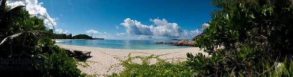 View of the beach Grand Anse Kerlan on Praslin