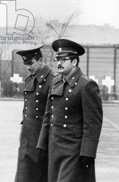 Soviet soldiers in West Berlin