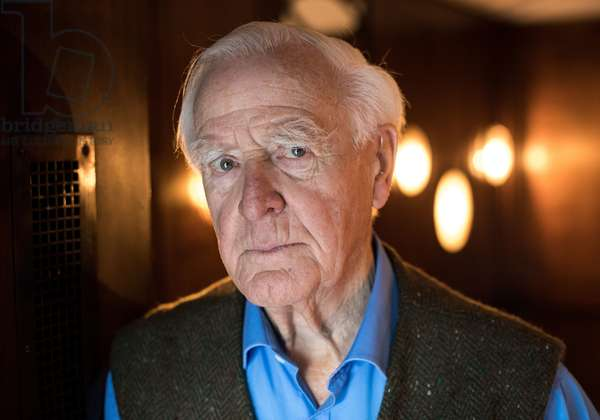 John le Carre at a hotel in Hamburg, Germany, 16 October 2017.