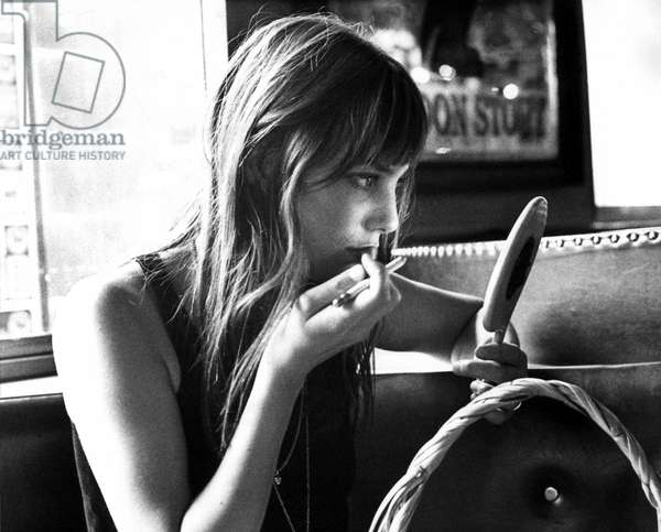 The singer and comedian Jane Birkin in may 1970