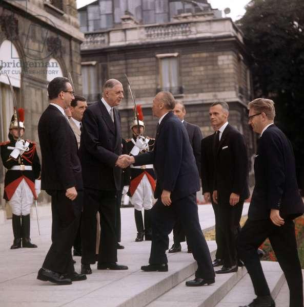 De Gaulle et Adenauer