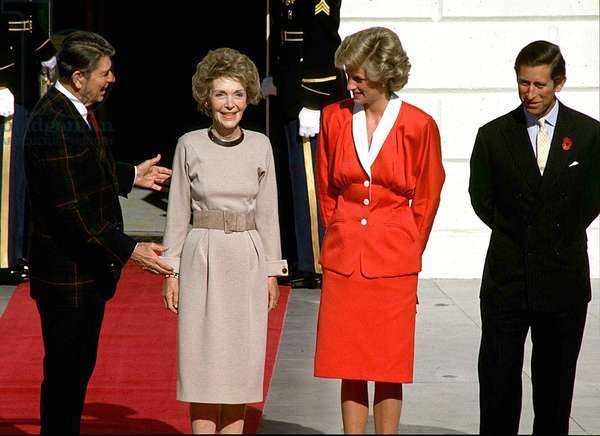 Princess Diana and Prince Charles at the White House