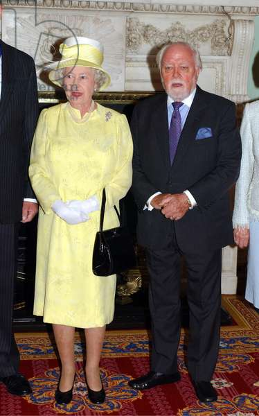 Queen Elizabeth of England and Lord Richard Attenborough