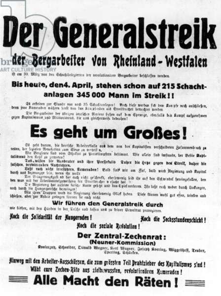 General strike - Poster from 1919