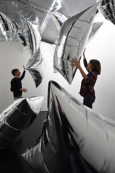 Andy Warhol's installation 'Silver Clouds' (1966), on display as part of '
