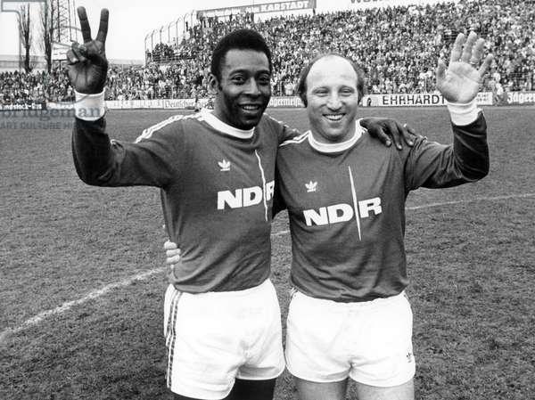 Pele and Uwe Seeler