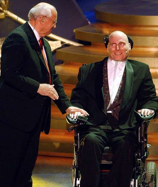 Mikhail Gorbachev et Christopher Reeve, 2003 (photo)