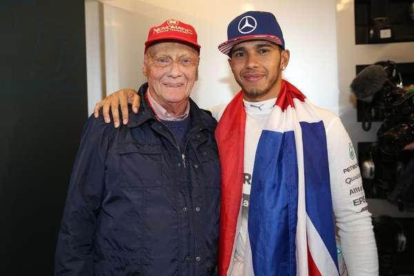 Niki Lauda et Lewis Hamilton