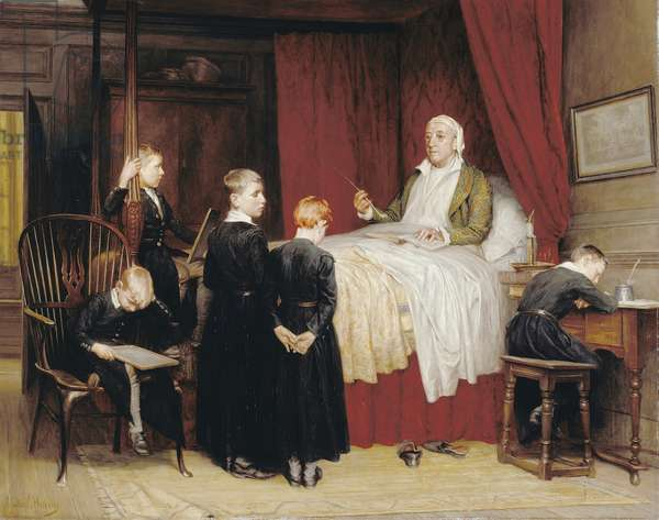 Old-time Tuition at Dulwich College (oil on canvas)