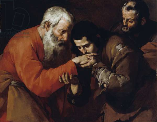 The Return of the Prodigal Son (oil on canvas) c. 1630's
