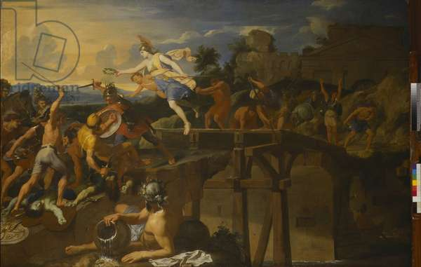 Horatius Cocles Defending the Bridge (oil on canvas)