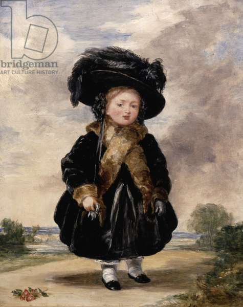 Queen Victoria, aged Four (oil on panel) (also see 267656)