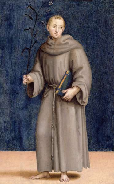 St. Anthony of Padua, panel from the predella of the Colonna Altarpiece, c.1502 (oil on panel)