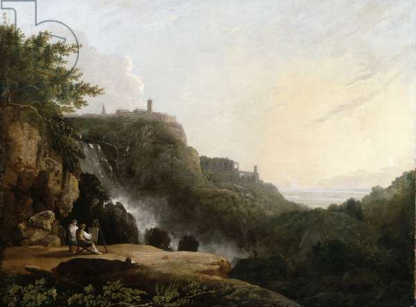 View of Tivoli: The Cascatelle and the Villa of Maecenas, c.1752 (oil on canvas)