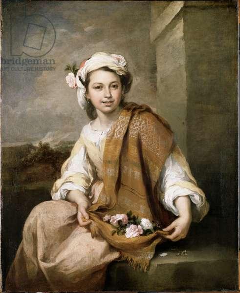 The Flower Girl, c.1665-70 (oil on canvas)