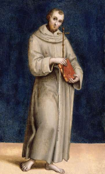 St. Francis of Assisi, panel from the predella of the Colonna Altarpiece, c.1502 (oil on panel)