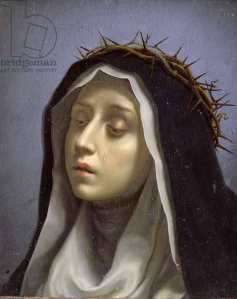 St. Catherine of Siena (oil on panel)
