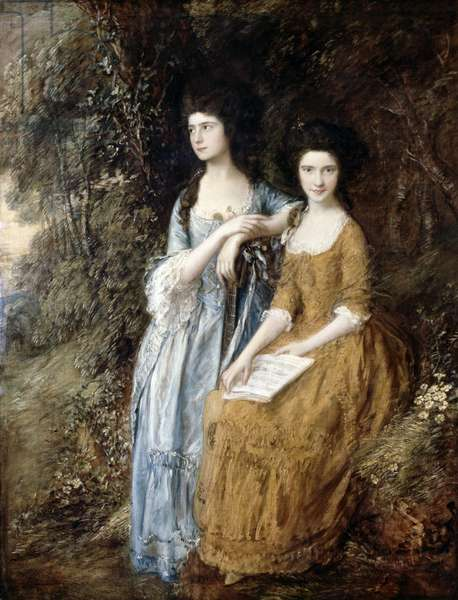 The Linley Sisters (Mrs. Sheridan and Mrs. Tickell) 1771/72 (oil on canvas)