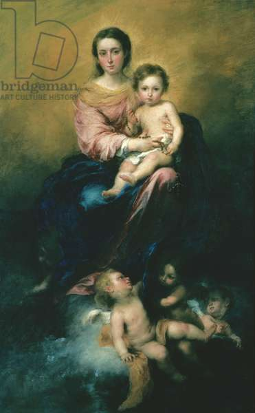 The Madonna of the Rosary, 1670-80 (oil on canvas)