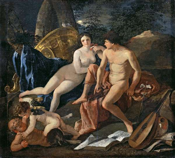 Venus and Mercury, c.1627-29 (oil on canvas)