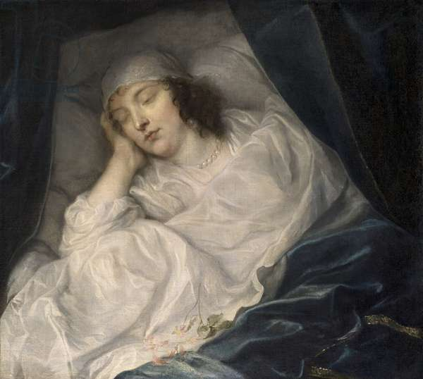 Venetia, Lady Digby, on her Deathbed, 1633 (oil on canvas)