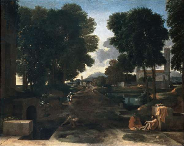 A Roman Road (oil on canvas)