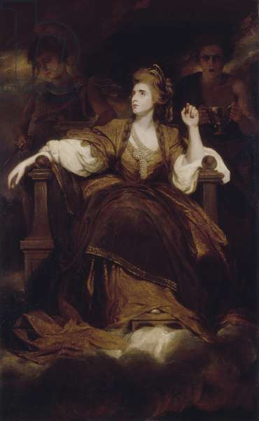 Mrs. Siddons as the Tragic Muse, 1789 (oil on canvas)