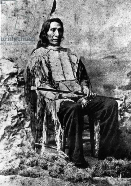 Chief Red Cloud at age 72, c.1893 (b/w photo)