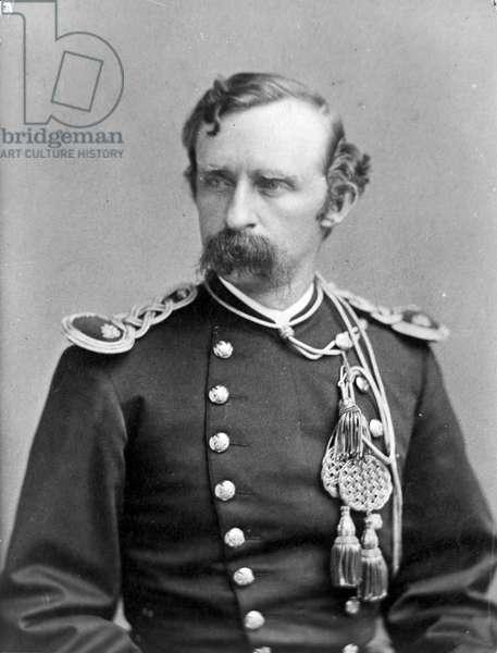 General George A. Custer, in uniform, bust (b/w photo)