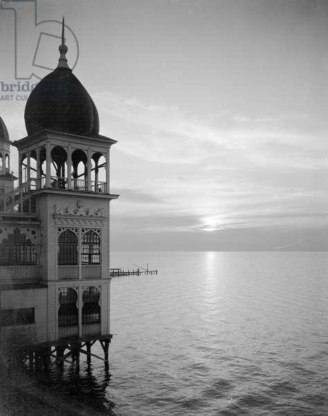 Saltair - Sunset, c.1920-25 (b/w photo)