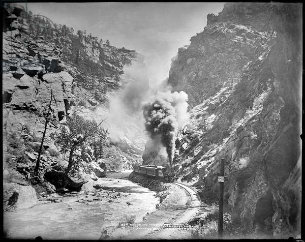 Rounding Inspiration Point, Clear Creek Canyon, c.1905 (b/w photo)