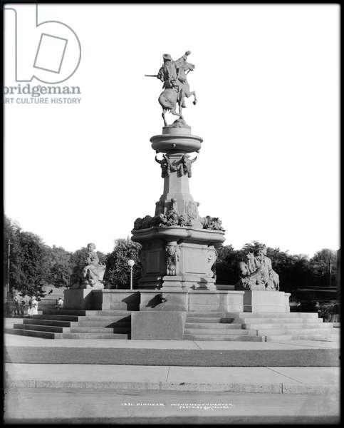 Pioneer Monument, Denver, Colorado, c.1911-20 (b/w photo)