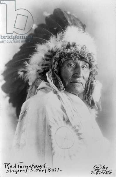 Red Tomahawk, slayer of Sitting Bull, c.1890-1910 (b/w photo)