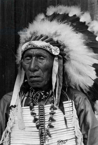 Nick Black Elk, Oglala Sioux, c.1930-50 (b/w photo)