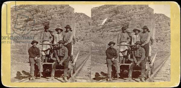 John Chinaman on the rail road, c.1870 (albumen print)