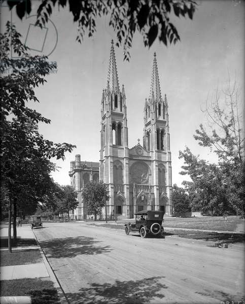 Cathedral of the Immaculate Conception, c.1920-30 (b/w photo)