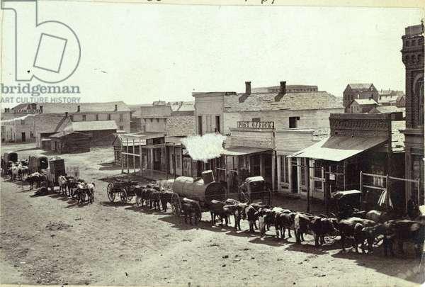 Larimer St, Denver, Colorado, 1862 (b/w photo)