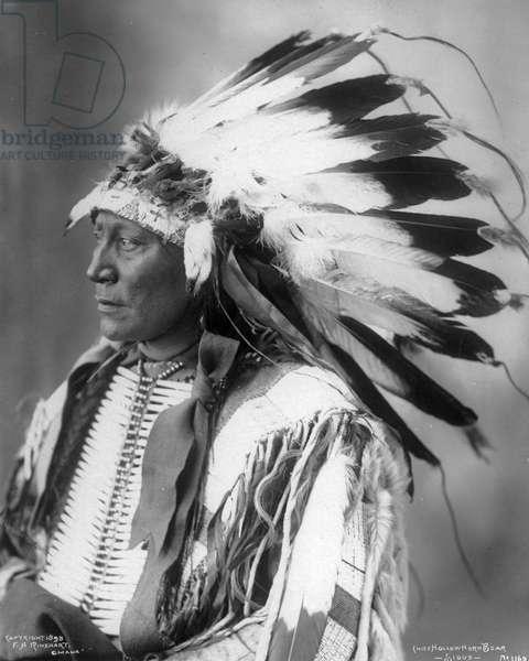 Chief Hollow Horn Bear, Sioux, 1898 (b/w photo)