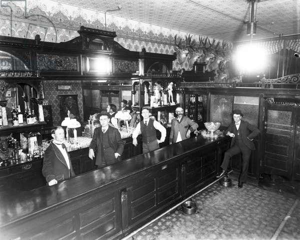 Leadville Saloon, c.1883-89 (b/w photo)