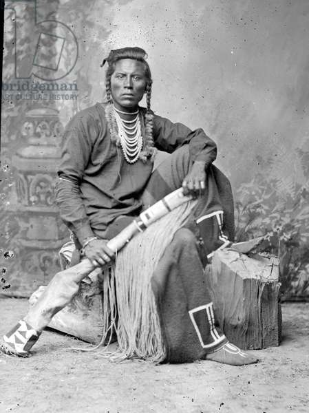 Curley, Crow Scout (b/w photo)