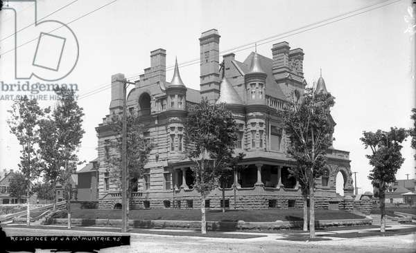 Residence of J. A. McMurtrie (b/w photo)