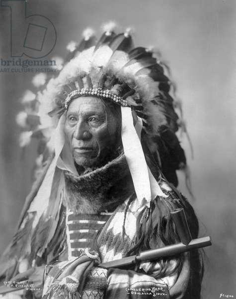 Conquering Bear, Oglala Sioux, 1899 (b/w photo)