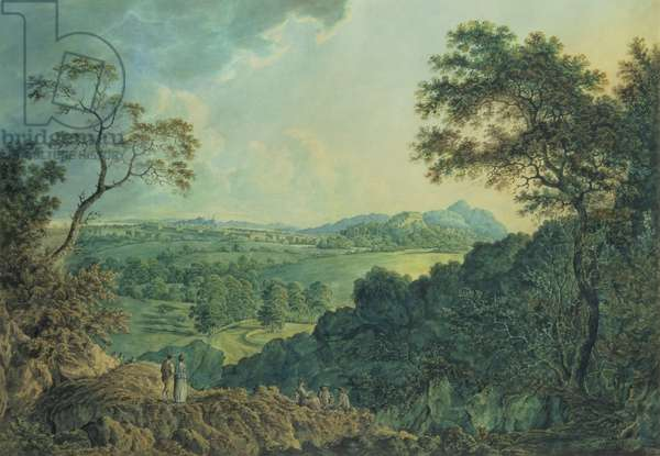 View of Edinburgh from Corstorphine Hill (w/c on paper)