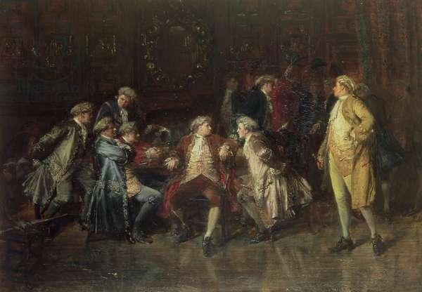 London Jacobites receiving news of the Prestonpans (oil on canvas)