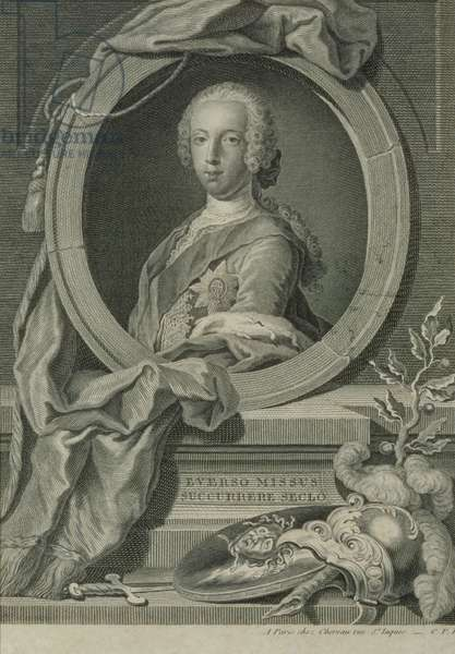 Prince Charles Edward Stuart (1720-88) (copper engraving)