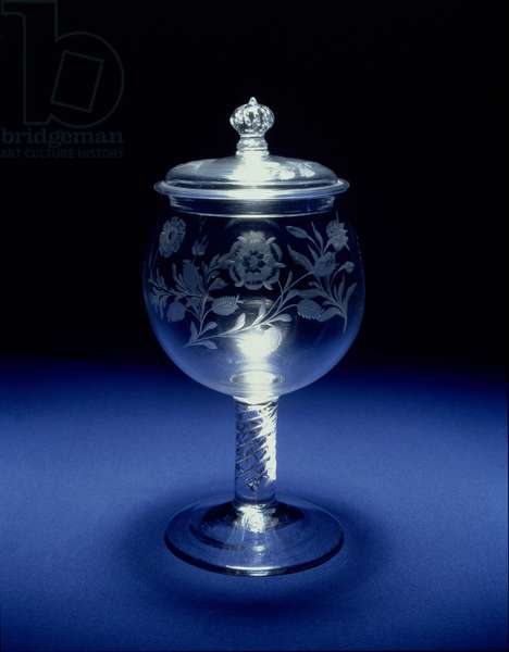 Goblet and Cover, Jacobite, c.1750 (glass)