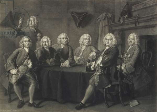 Benn's Club of Aldermen, engraved by J. Faber (mezzotint)