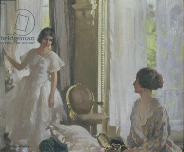 The Seamstress (oil on canvas)